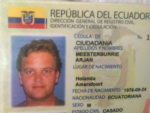 Het Ecuadoriaanse paspoort van Arjan Meesterburrie. Foto Arjan Meesterburrie