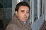Erdal Balci op de pont over de Bosporus. November 2007. Foto: Leonie Balci-Kant