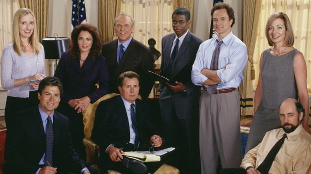 De cast van The West Wing. Foto NBC