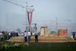 Het vernielde monument op het Tahrir-plein | Foto: Ester Meerman