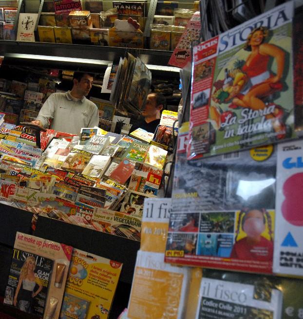 Kiosk in Bologna. Foto Luigi Rosa / Wikimedia Commons